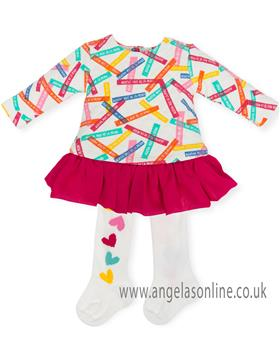 Agatha Ruiz Girls Dress 6320-18 Cerise