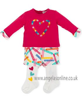 Agatha Ruiz Girls Short Set 6020-18 Cerise