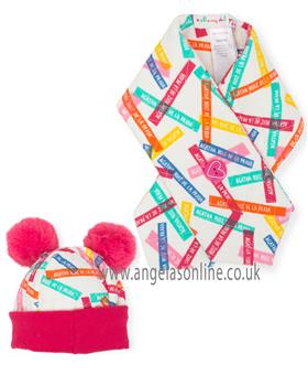 Agatha Ruiz Girls Hat & Scarf Set 6820-18 Cerise