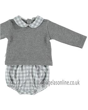 Babidu Baby Boys Jumper & Checked Jam Pants 42008-18 GR