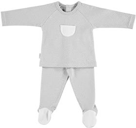 Babidu Baby Boys Quilted Two Piece 58190-18 GR