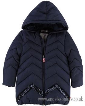 Billieblush girls coat U16184-18 Blue