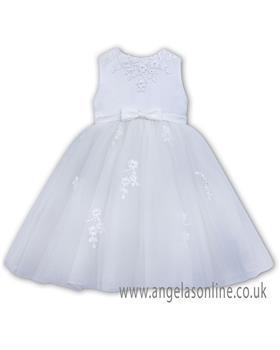 Sarah Louise girls ballerina dress 070073-19 White