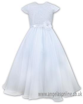Sarah Louise girls ankle length christening dress 090026-19