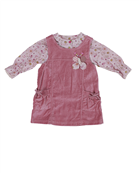 Dizzy Daisy baby girl coral pinafore and blouse set