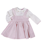 Dizzy Daisy baby girl pink sparkly pinafore set