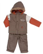 Pequilino baby boy 3 piece gilet set