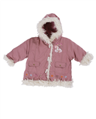 Dizzy Daisy baby girl hooded anorak with fur