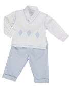 Pretty Originals White and Blue 3 piece set 5939
