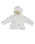 baby girl cream boucle hooded jacket