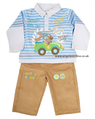 Everyday Kids Boys Motor Club Outfit Top | Corduroy Trousers 7069