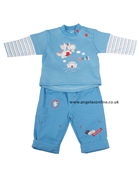 Everyday Kids Baby Boy Castle & Dragon Blue Top | Trousers 7024