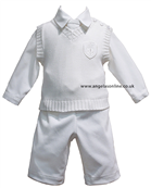 Little Darlings Baby Boys Cream Outfit 2074