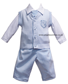 Little Darlings Baby Boys Blue Outfit 2067