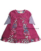 Everyday Kids Baby Girls Floral Dress | Stripy Long Sleeve Top 7061