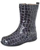 Andanines Girls Grey Mock Croc Boots T21336