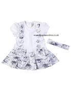 Emile et Rose Girls Printed Dress | Hairband Amanda 6205nv
