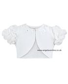 Sarah Louise Girls S/S Bolero 674 white