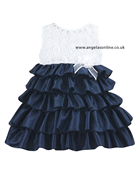Sarah Louise Girls Tiered Dress 8874