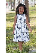 Sarah Louise Girls Floral Summer Dress 8878