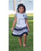 Sarah Louise Girls T-Shirt and Ruffle Skirt 8884 | 8885