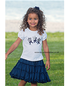 Sarah Louise Girls T-Shirt and Navy Skirt 8871 | 8872