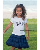Sarah Louise Girls T-Shirt and Navy Skirt 8871 | 8872