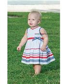 Sarah Louise Girls White | Gingham Print Summer Dress 8861