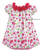 Sarah Louise Girls Floral Smock Dress 8840