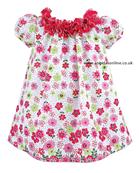 Sarah Louise Girls Floral Smock Dress 8840