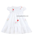 Sarah Louise Girls White Frill Dress 8817