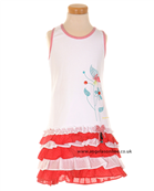 Deux par Deux Girls Dress with Ruffle Skirt I91