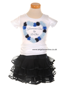 S&D Le Chic/Studs and Diamonds White Glamour T-Shirt | Ra Ra Skirt