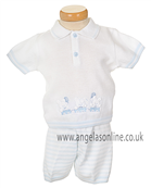 Pex  Rufus Baby Boys 2 Pc Knit Outfit B5216