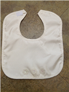 Faux Silk Bib with Terrycloth Lining and Flower Appliques 1