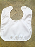 Faux Silk Bib with Terrycloth Lining and Diamante Appliques 2
