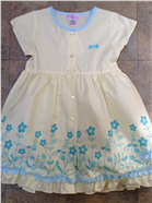 Dizzy Daisy Girls Pale Yellow & Blue Floral Dress 8112