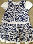 Dizzy Daisy Girls Navy & White Floral Outfit | Dress & T-Shirt 8073B