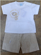 Valenri Baby Boys 2 Pc Beige Outfit 210014