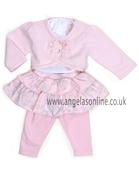 Emile et Rose Baby Girls Pink Outfit 9476pp Brooke