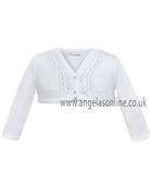 Sarah Louise Girls White Soft Knit Cardigan 641