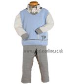 Tutto Piccolo Boys Tank Top, Shirt & Trouser 4830 | 4015 | 4014