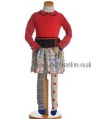 Deux par Deux Girls Spot/Stripes Top, Skirt & Tights E74 | E83 | EC2