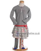 Deux par Deux Girls Striped Jersey Dress & Tights E96   EC2