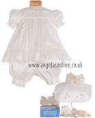 Pretty Originals Girls Ivory Silk 3 Pc Christening Outfit 708
