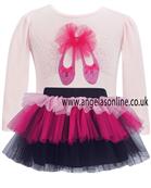 Dani Girls Pink Outfit - Ballet Slipper Top & Tutu D4549 | D4550