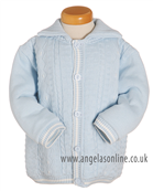 Pretty Originals Baby Boys Blue Knitted Jacket JP64134