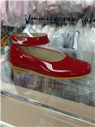 Andanines Girls Red Patent Leather Shoe T71148