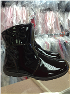 Andanines Girls Dark Brown Patent Leather Boot C92807
