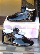 Andanines Baby Girls Black Patent Leather Shoe T10118BK